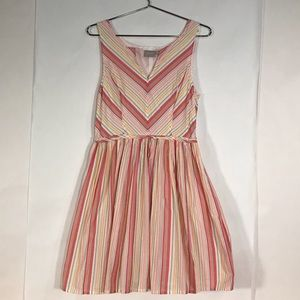 EShakti Candy Stripe Spring Sun Dress